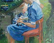 moeder Tietske olieverf '82