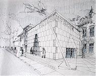 ontwerpschets fries museum