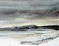 haven van vlieland   aquarel