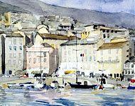 cinque terre italie   aquarel