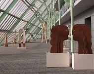 kunst in het atrium van 'crystalic'