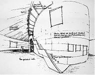 een expositiezaal als een onderzeeër   heino