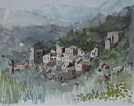 boussagues languedoc   aquarel '08
