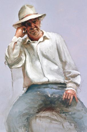 Gunnar Daan geschilderd door Gerrit Breteler