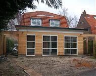 uitbreiding woonhuis in wassenaar in aanbouw