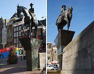 voetstuk voor Theresia van der Pandt's Wilhelmina te paard in Amsterdam