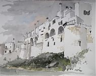 ostuni   potlood/aquarel