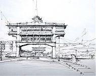 station milaan  pentekening
