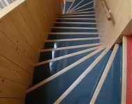 trap getimmerd voor het huis van mijn zoon